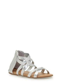 Girls 10-4 Gladiator Sandals - 1737068067265