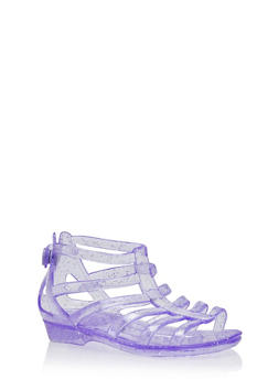 Girls 5-11 Glitter Jelly Gladiator Sandals - 1737068067273