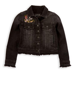 Girls 7-16 Buffalo David Bitton Embroidered Denim Jacket - 1764074550023