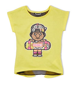 Girls 4-6x Trukfit Graphic Tee with Open Back and Sheer Underlay - 1780072911043