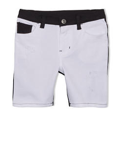 Girls 4-6x Trukfit Colorblock Shorts with Logo Patch - 1780072911050