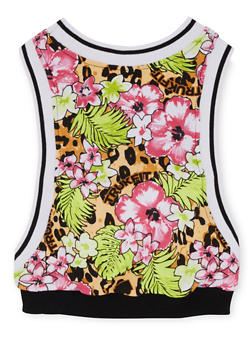 Girls 4-10 Trukfit Printed Top with Open Sides - 1780072911069