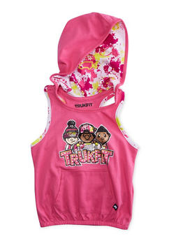 Girls 4-6x Trukfit Graphic Hooded Top - 1780072911081