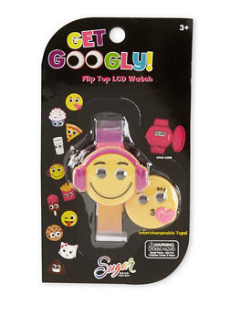 Kids Googly Eyed Emoji Watch with Changeable Cover - 1799049040006