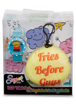LCD Light Up Watch and Keychain with Fries Before Guys Graphic - 1799049040031