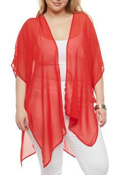 Plus Size Ladder Back Kimono - 1802051060069