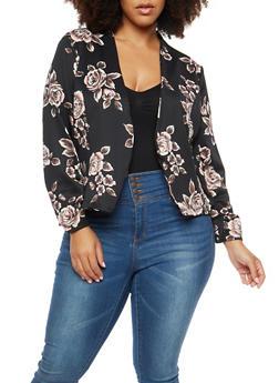 Plus Size Rose Blazer - 1802062700113
