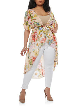 Plus Size Floral Maxi Top - 1803056125595