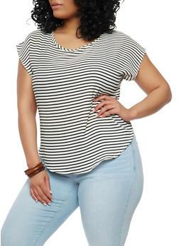 Plus Size Striped Top - 1812020620803
