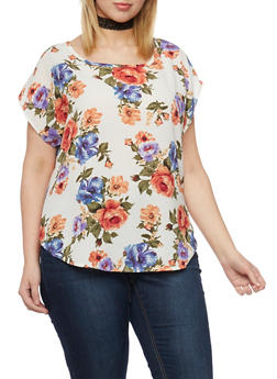 Plus Size Crepe Top - IVORY - 1812020624805
