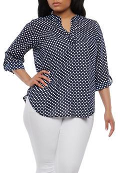 Plus Size Polka Dot Top - 1812061352774