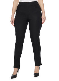 Plus Size Solid Skinny Pants - 1816020626027