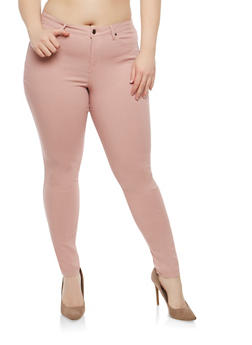 Plus Size Colored Jeggings - 1816056571017