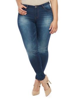 Plus Size WAX Skinny Jeans - 1818071610052