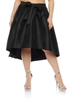 Plus Size High Low Taffeta Skirt - 1862074281974