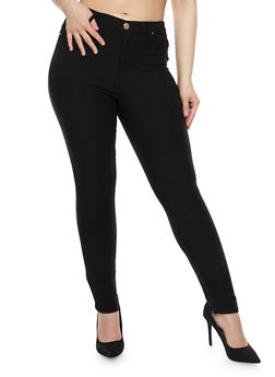 Plus Size Almost Famous Knit Jeggings - 1870015990147