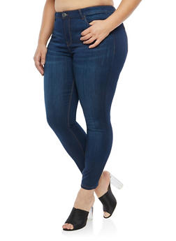 Plus Size Almost Famous Skinny Jeans - 1870015991515
