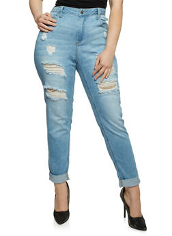Plus Size Cello Light Wash High Waisted Skinny Jeans - 1870063151474