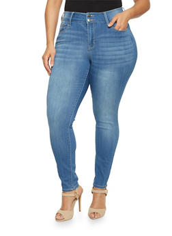 Plus Size Cello 5 Pocket Skinny Jeans - 1870063154930