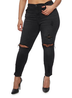 Plus Size Cello Destroyed Skinny Jeans - 1870063157530
