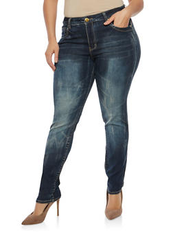 Plus Size VIP Basic Push Up Jeans - 1870065300315