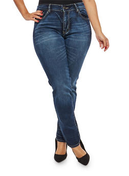 Plus Size VIP Push Up Jeans - 1870065300401