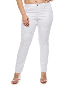 Plus Size VIP Moto Jeans - 1870065300525