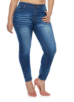 Plus Size VIP Push Up Skinny Jeans - 1870065300582