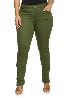 Plus Size VIP Straight Leg Push Up Jeans - 1870065301735