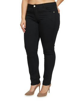 Plus Size Soft Knit VIP Jeggings - 1870065301821