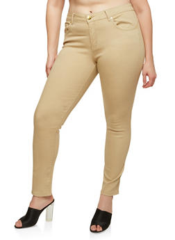 Plus Size VIP Colored Skinny Jeans - 1870065305317