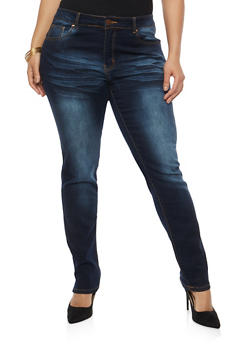Plus Size VIP Basic Push Up Jeans - 1870065309864