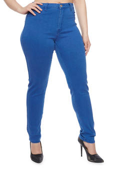 Plus Size High Waisted Jeggings - 1870067540384
