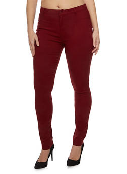 Plus Size Shinestar Stretch Knit Jeans - 1870068196835