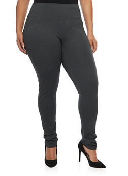 Plus Size Jeggings with Back Pockets - 1870068199869
