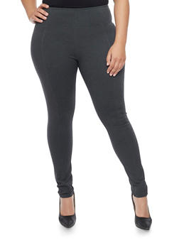 Plus Size Tummy Tuck High Waisted Leggings - 1870068199877
