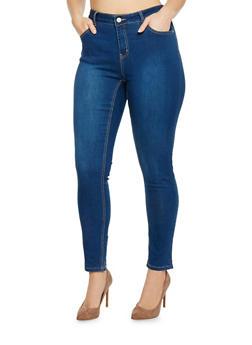 Plus Size WAX Skinny Jeans - 1870071610914
