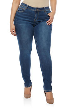 Plus Size WAX Whisker Wash Jeans - 1870071610930