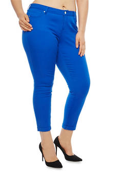 Plus Size WAX Colored Skinny Jeans - 1870071610945
