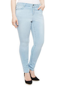 Plus Size WAX Whisker Wash Skinny Jeans - 1870071611500