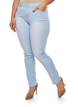 Plus Size WAX Basic Skinny Jeans - 1870071611914