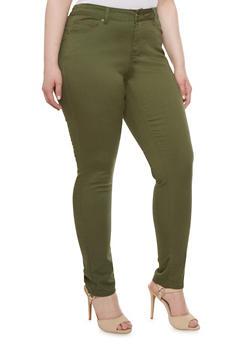 Plus Size WAX Skinny Push Up Jeans - 1870071613100