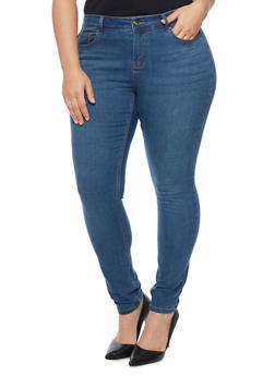 Plus Size WAX Classic Whiskered Skinny Jeans - 1870071615100