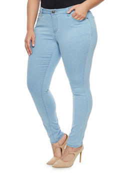 Plus Size WAX Skinny Jeans - 1870071619000