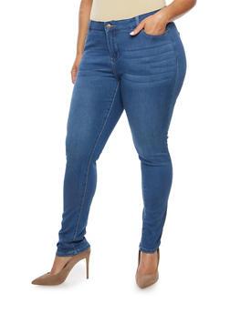 Plus Size WAX Skinny Jeans - 1870071619037