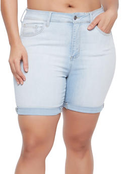 Plus Size Cello Bermuda Shorts - 1871063155030