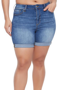 Plus Size Cello Bermuda Shorts - 1871063156030