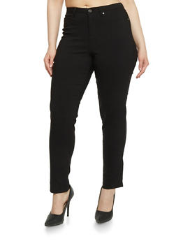 Plus Size 5 Pocket Skinny Pants - 1874056570007
