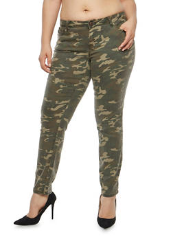 Plus Size Camo Pants - 1874060584552