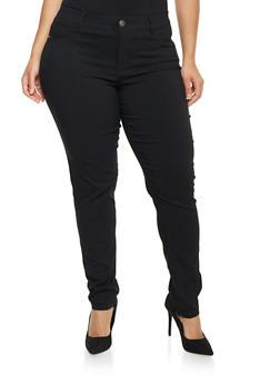 Plus Size Stretch Denim Pants - 1874060587339